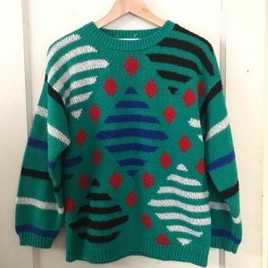 Vintage 16th Street 80's Loud Sweater